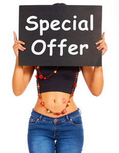 Special Offer Board Shows Discount Bargain Products