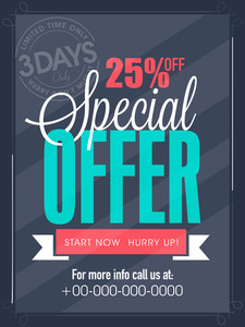 Special offer for 3 days only flyer banner or template design for your business.