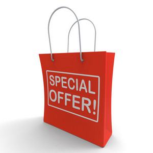 Special Offer Shopping Bag Shows Bargain