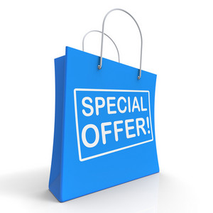 Special Offer Shopping Bag Shows Promotion