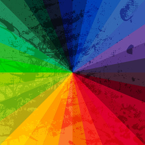 Spectrum Wheel Made Of Bricks. Rainbow Color Spectrum Grunge Background. Square Composition With Geometric Color Flow Effect. ?olor Wheel