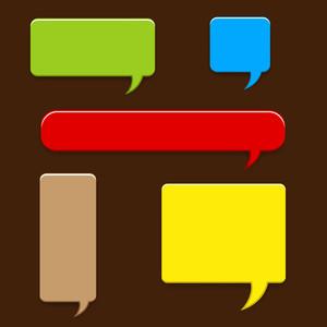 Speech Box Vector Elements