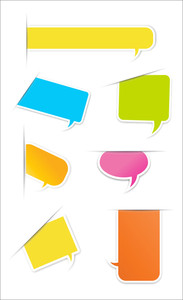 Speech Bubbles And Message Box Vectors