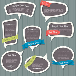 Speech Bubbles In Vintage Style