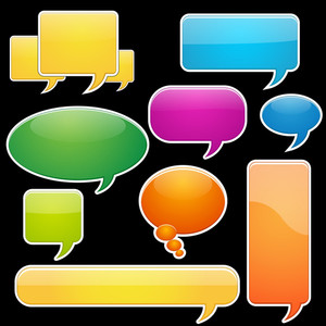 Speech Bubbles Stickers Vectors