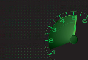 Speed Green Vector Abstract.