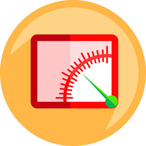 Speed Meter Shape Icon