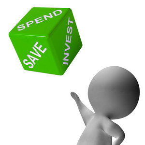 Spend Invest Or Save Dice Shows Budgeting