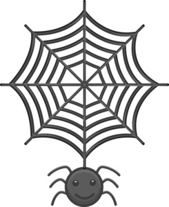 Spider And Web Cartoon Vector