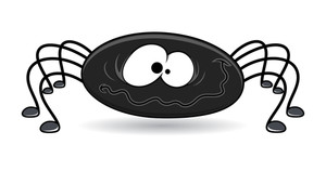Spider Cartoon - Halloween Vector Illustration