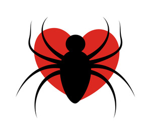 Spider Shape On Heart