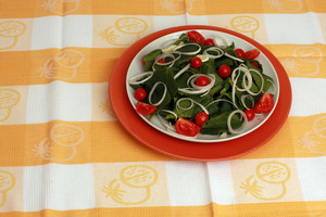 Spinach Salad On A Table