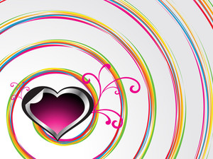 Spiral Background With Decorated Heart