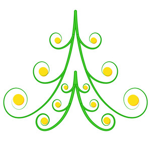 Spiral Christmas Tree Design