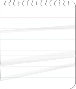 Spiral Notebook Creased Paper - Vector Background