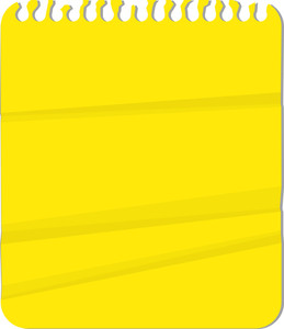 Spiral Notebook Paper - Lemon Yellow - Vector Background