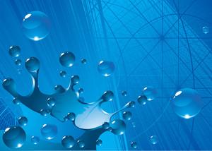 Splash Environmen. Vector Background