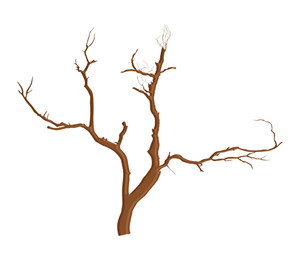 Spooky Dead Tree Vector