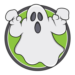 Spooky Ghost Badge
