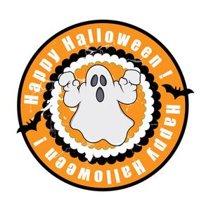 Spooky Halloween Ghost Banner
