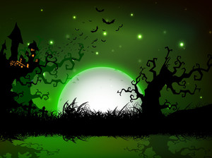 Spooky Halloween Night Background