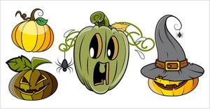 Spooky Halloween Pumpkin Vectors