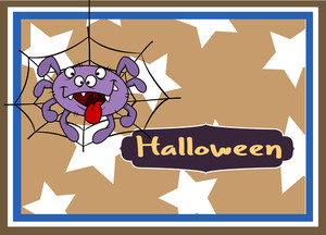 Spooky Halloween Spider Character Background