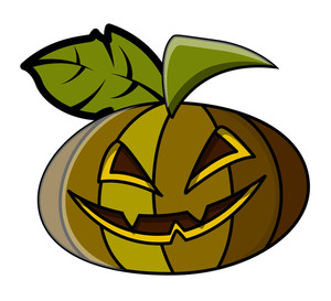Spooky Jack O' Lantern - Halloween Vector Illustration