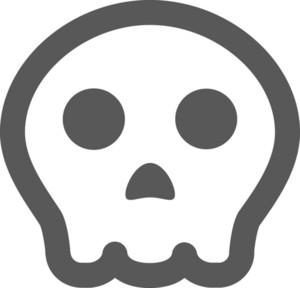 Spooky Skull Stroke Icon
