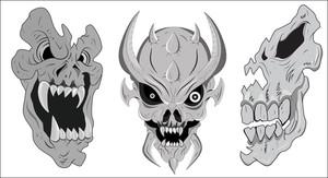Spooky Skulls Vectors