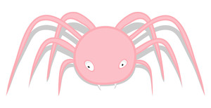 Spooky Spider Character Illustration