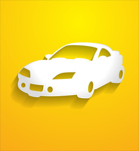 Sports Car Vector Shape
