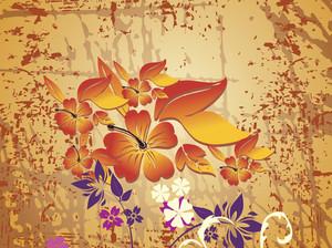 Spray Background With Flower Design