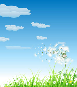 Spring Background Vector Illustration