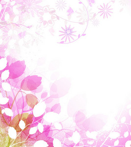 Spring Floral Background Vector Illustration