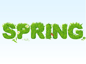Spring Green. Vector Template.