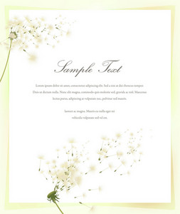 Spring Invitation Vector Illustration