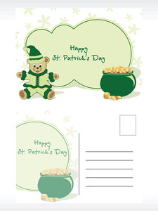 St. Patric Postcard With Cartoon