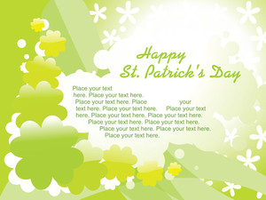 St. Patrick Day Card Green Wallpaper