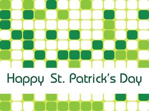 St. Patrick Mosaic Pattern Background