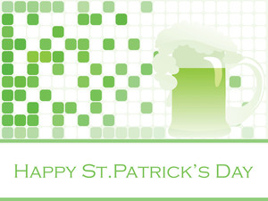 St. Patrick's Banner Design With Mug 17 March
