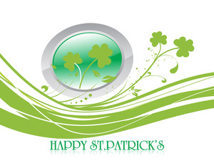 St. Patrick's Day Abstract Curl Background 17 March
