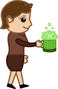 St. Patrick's Day - Beer - Business Cartoon Characters