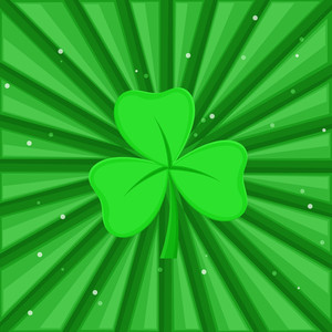 St. Patrick's Day Clover Leaf Background
