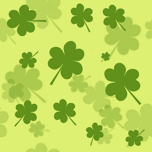 St. Patrick's Day Clover Shamrock Background