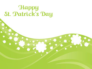 St. Patrick's  Day Curve Shamrock Background
