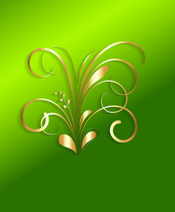 St. Patrick's Day Decorative Floral Elements
