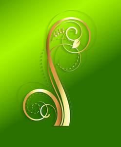 St. Patrick's Day Golden Floral Banner