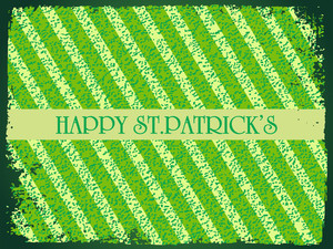 St. Patrick's Day Grunge Lines Background 17 March