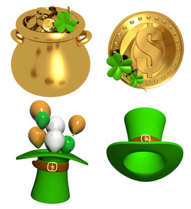 St. Patrick's Day Hat With Balloons